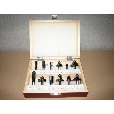 Frezenset 12-delig semi-prof in houten kist