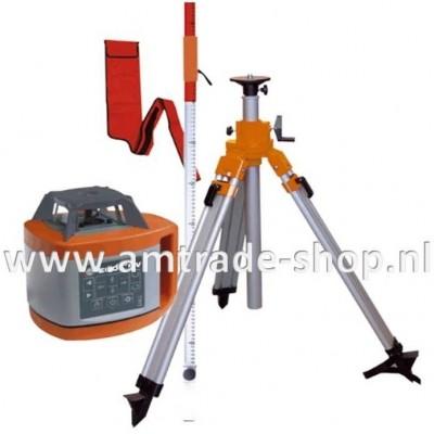 Horizontaal / verticaal (af) bouwlaser 600 HV inclusief baak en opdraaibaar statief
