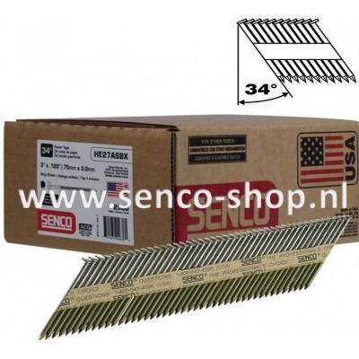 Senco Stripspijker Ø3,1 HC58APBKR 80MM blank doos a 2.000 stuks
