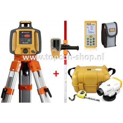 TOPCON DEAL Bouwlaser RL-H4C + Digitaal waterpasinstrument + Afstandmeter + baak & statief