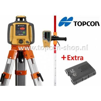 TOPCON DEAL Bouwlaser RL-H4C + Extra accupakket statief & laserbaak